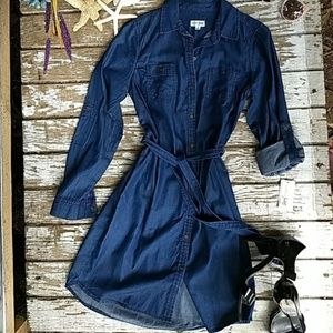 NWT Maison Jules Chambray Dress